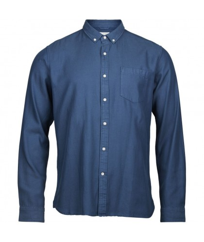Chemise Twill souple bleu nuit KNOWLEDGE COTTON APPAREL