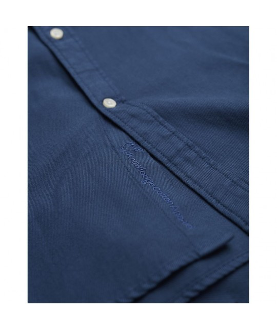 Soft twill dark blue shirt KNOWLEDGE COTTON APPAREL
