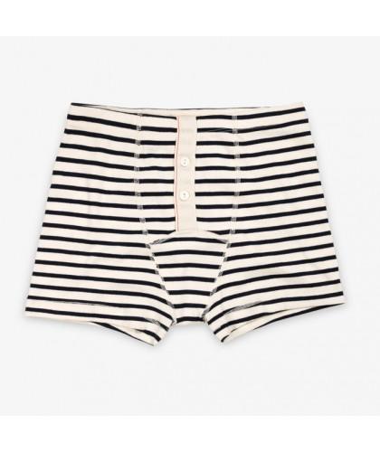 Breton Stripes Organic Ribbed Cotton Boxer Shorts HEMEN