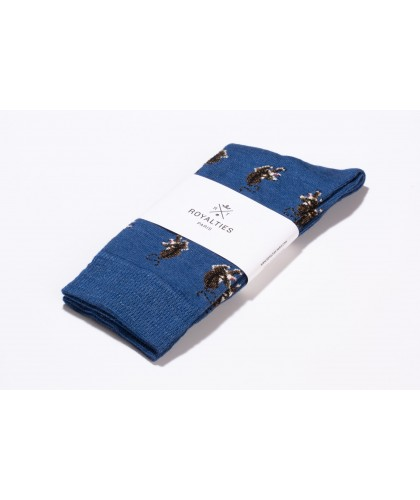 Chaussettes Jungle Cobalt ROYALTIES
