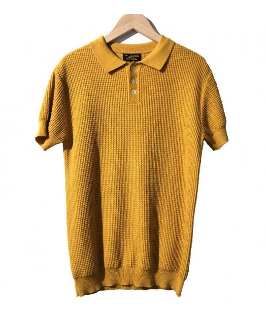 Yellow Honeycomb Cotton Polo Shirt LE MONT SAINT MICHEL