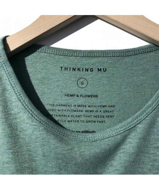 Hemp and Organic Cotton Green Tee THINKING MU