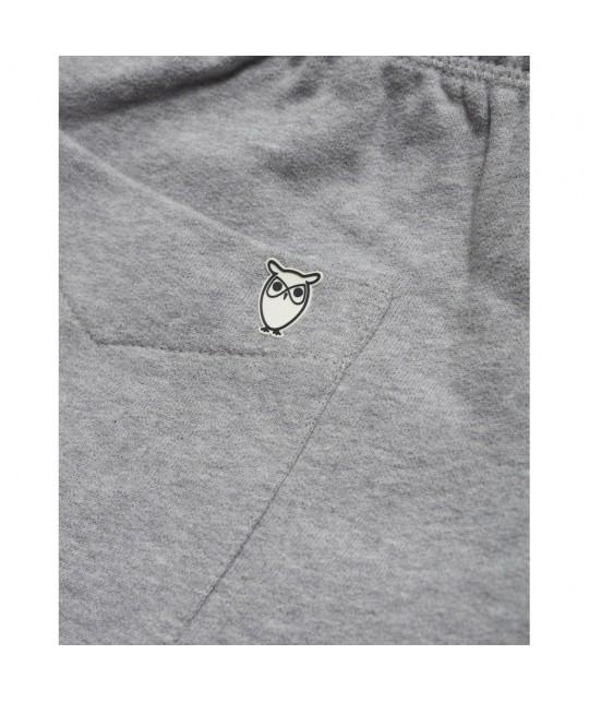 Light grey organic sweatshorts KNOWLEDGE COTTON APPAREL