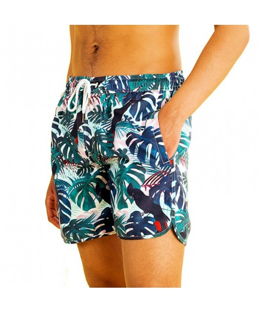 Recycled Color Leaves Swimshorts DEDICATED