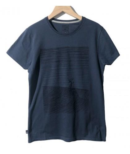 T-shirt bleu nuit Moosa...