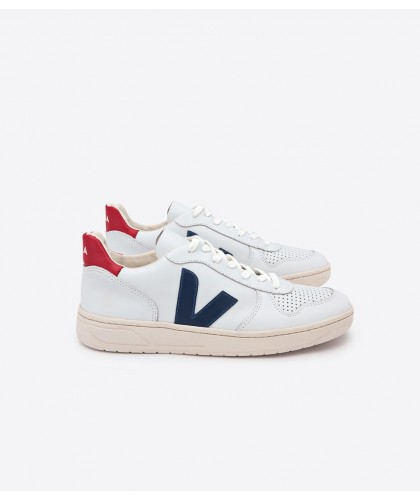 V10 Leather Extra White Nautico Pekin VEJA