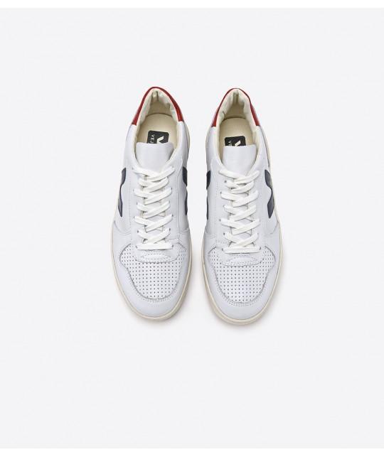 V10 Leather Extra White Nautico Pekin VEJA