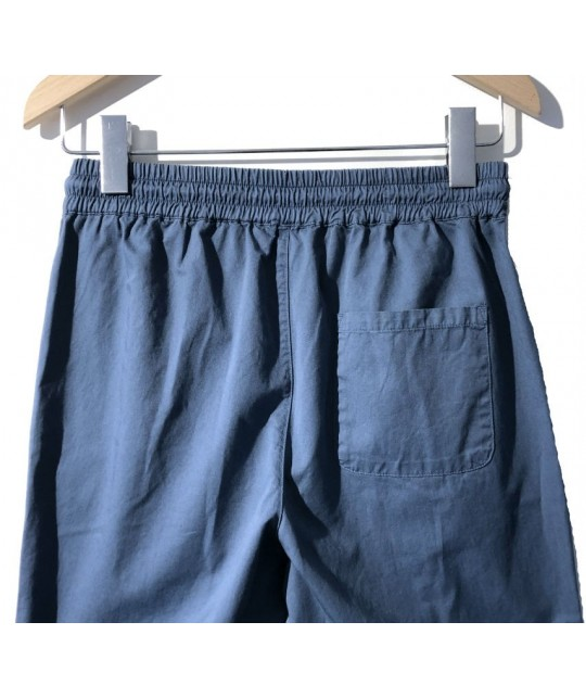 Lemos Grey Blue Relaxed Pants LA PAZ