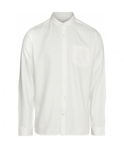 Chemise Twill souple blanche KNOWLEDGE COTTON APPAREL