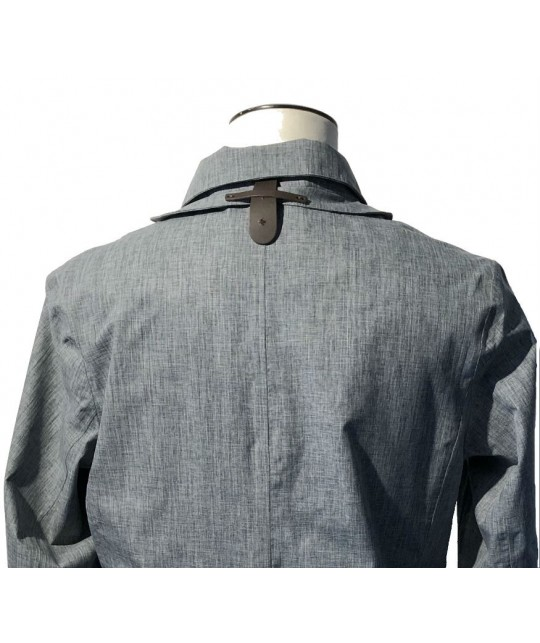 Caban imperméable Double Breasted gris NORWEGIAN RAIN