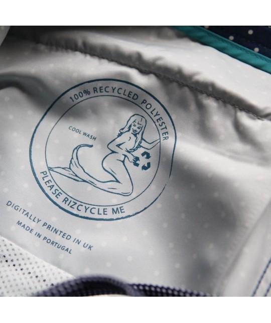 "Maillot de bain recyclé ""Braunton Polka Dots"" Riz Boardshorts"