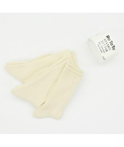 Lot de 3 paires de chaussettes coton bio ROTOTO