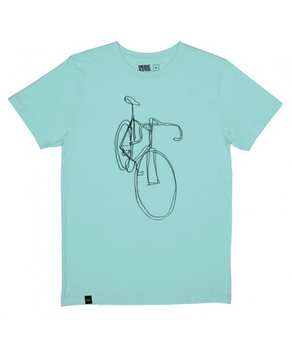 T-shirt vert pâle One Line Bike DEDICATED