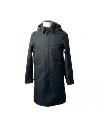 Black Single Breasted Light Raincoat NORWEGIAN RAIN