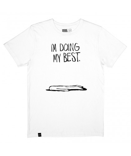 White 'Doing My Best' Tee DEDICATED