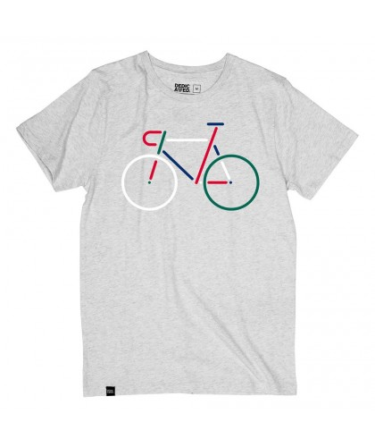 T-shirt gris chiné Color Bike DEDICATED