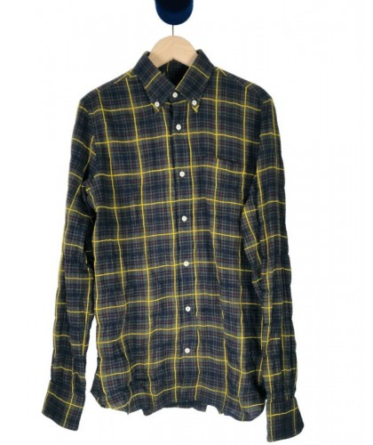 Green and yellow checked Shirt ABCL JAPAN