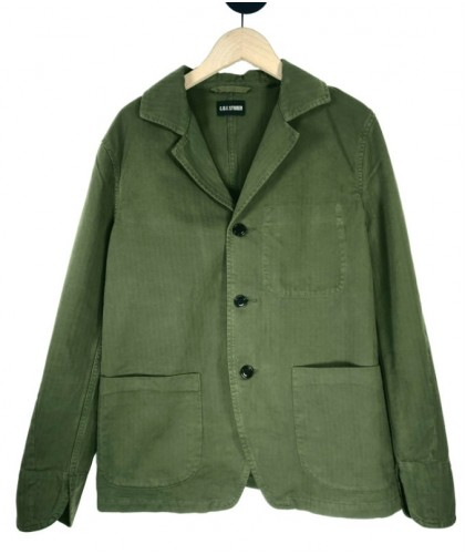 Military Green herringbone Painter Jacket COF STUDIO