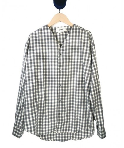 Grey checked flannel overshirt LIVID