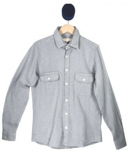 Light grey Flannel Overshirt FAR AFIELD