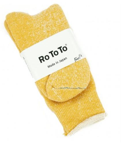 Chaussettes jaunes double...