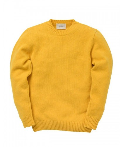 Yellow Lambswool Sweater COUNTRY OF ORIGIN
