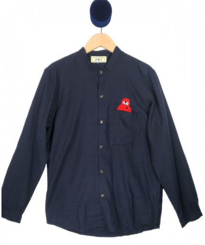 Lopi Navy Flannel Embroidered Shirt  JBJ