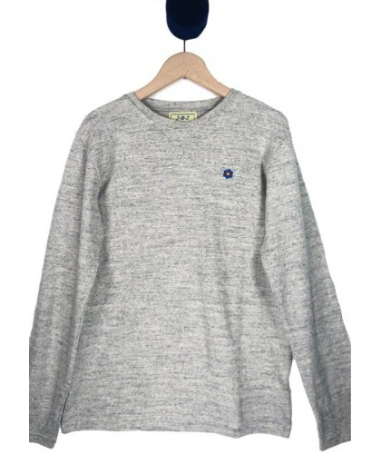 Katni Grey Embroidered LS Tee JBJ