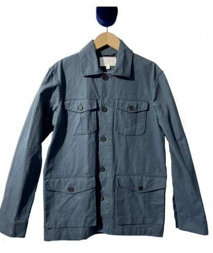 Merchant Blue Field Waxed Cotton Jacket KESTIN HARE