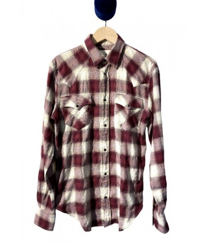 Cassidy Burgundy Checked Western Shirt ABCL JAPAN
