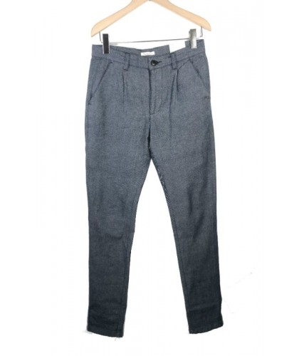 Pantalon en twill marine KNOWLEDGE COTTON APPAREL