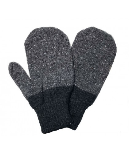 Charcoal Wool Psycho Mittens  HOWLIN'