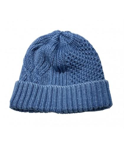 Bonnet en coton torsadé bleu clair ROTOTO