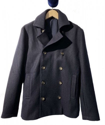 Navy Wool Sailor Coat JAGVI