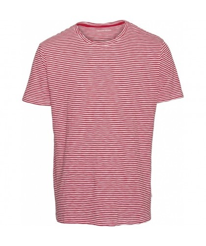 Red Organic Striped Tee KNOWLEDGE COTTON APPAREL