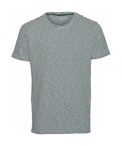 Organic Green Striped Tee KNOWLEDGE COTTON APPAREL