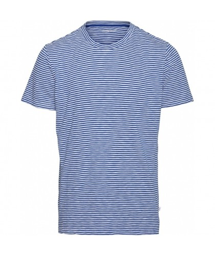 Blue Organic Striped Tee KNOWLEDGE COTTON APPAREL