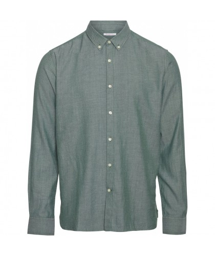 Chemise twill bio vert KNOWLEDGE COTTON APPAREL