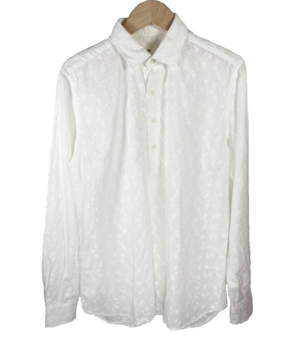 Chemise Polo blanche brodée ABCL